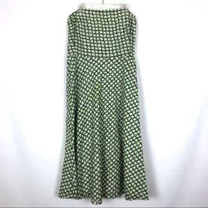 J Crew Strapless Dress Green Blue Knee Length